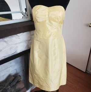 Banana Republic yellow silk sleeveless dress. Sz 8